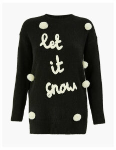 M&S Collection Let It Snow Christmas Jumper