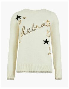 M&S Collection Celebrate Embellished Christmas Jumper