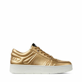 HAWAII/F Metallic Etched Leather Lace Up Trainers