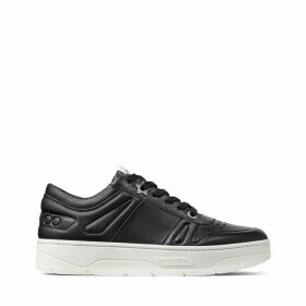 HAWAII/F Black Calf Leather Lace-Up Trainers