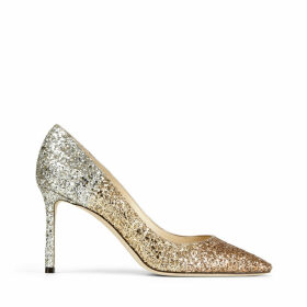 ROMY 85 Metallic Glitter Degradé Point-toe Pumps