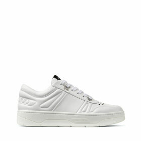 HAWAII/F White Calf Leather Lace Up Trainers