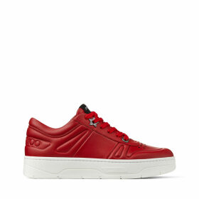 HAWAII/F Red Calf Leather Lace Up Trainers