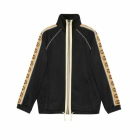 Oversize technical jersey jacket