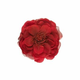 Flower pin in silk