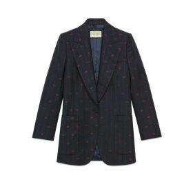 Retro GG thin stripe wool jacket