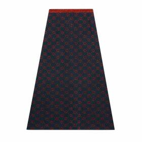 Interlocking G lamé wool skirt