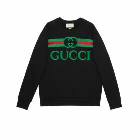 Oversize sweatshirt with Gucci logo