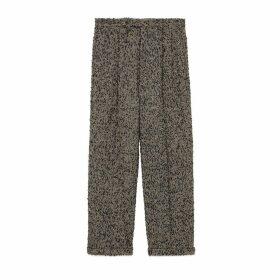 Bouclé wool trousers