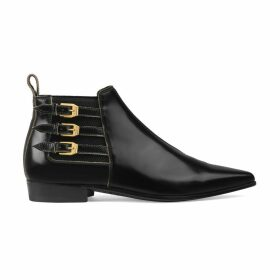 Women's leather ankle boot