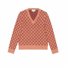 GG wool V-neck jumper