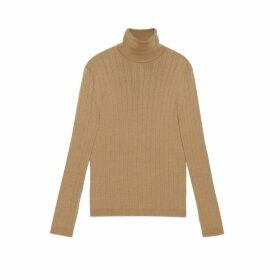 Fine wool turtleneck