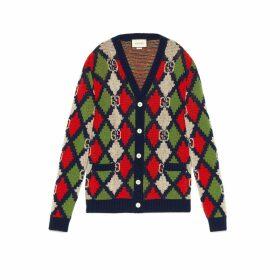 GG rhombus wool cardigan