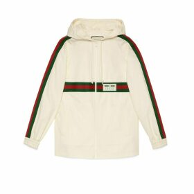 Cotton jacket with Gucci label