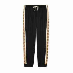 Loose technical jersey track bottoms