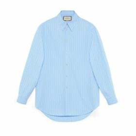 Oversize striped cotton shirt