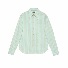 Washed striped cotton shirt