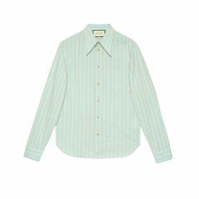 Washed striped cotton shirt