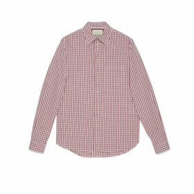 Square G fil coupé check shirt