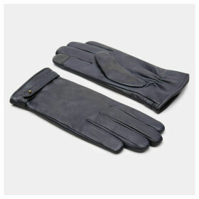 Timberland Leather Touchscreen Gloves For Women In Navy Navy, Size M