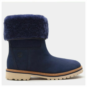 Timberland Chamonix Valley Shearling Boot For Women In Blue Blue, Size 9