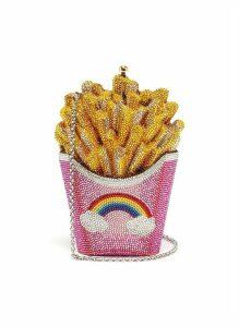 'French Fries' crystal pavé minaudière