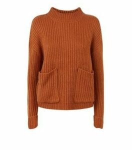 Urban Bliss Rust Utility Ribbed Knit Jumper New Look