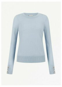 Priya Wool Cashmere Sweater Pale Blue