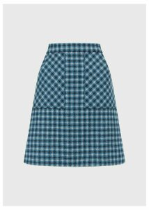 Elodie Wool Skirt Kingfisher Mult