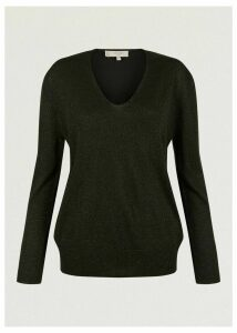 Mae Sparkle Sweater Dark Green