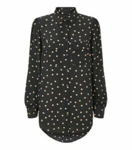 Black Spot Utility Pocket Shirt New Look