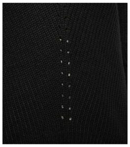 Black V Neck and Back Jumper New Look