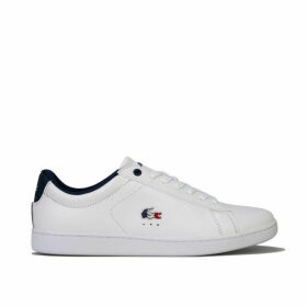 Lacoste Womens Carnaby Evo Tricolore Leather Trainers Size 7.5 in White