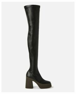 Stella McCartney Black Over-the-knee Boots, Women's, Size 8