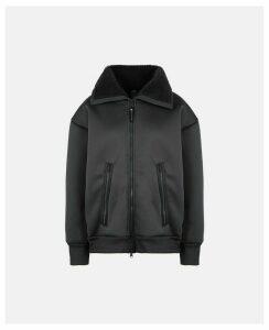 Stella McCartney Black Black Fleece Jacket, Women's, Size S