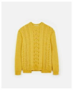 Stella McCartney Yellow Yellow Cable Knit, Women's, Size 14