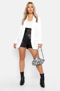 Womens Plus Tailored Blazer - white - 20, White