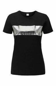 Regular-fit T-shirt with 3D foil-print logo