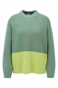 Relaxed fit sweater with colour-block detail