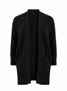 Black Knitted Pocket Cardigan, Black