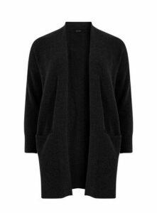 Black Knitted Pocket Cardigan, Black