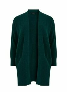 Green Knitted Pocket Cardigan, Green
