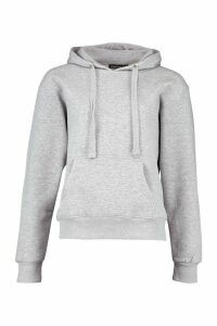Womens Basic Solid Oversized Hoody - grey - M/L, Grey