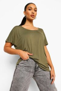 Womens Basic Oversized T-Shirt - Green - 8, Green