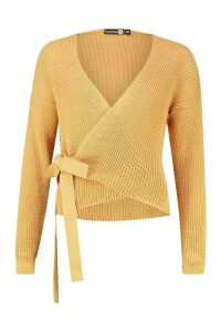 Womens Tall Blouson Sleeve Wrap Cardigan - beige - M/L, Beige