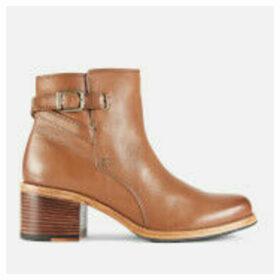 Clarks Women's Clarkdale Jax Leather Heeled Ankle Boots - Dark Tan - UK 5