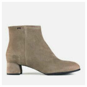 Camper Women's Katie Suede Heeled Ankle Boots - Tan - UK 7
