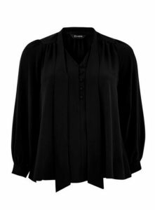 Black Pussybow Blouse, Black