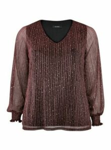 Berry Red Sparkle Top, Berry