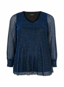 Navy Blue Sparkle Top, Blue